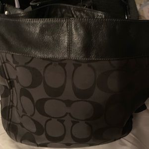 Coach shoulder purse. Black
